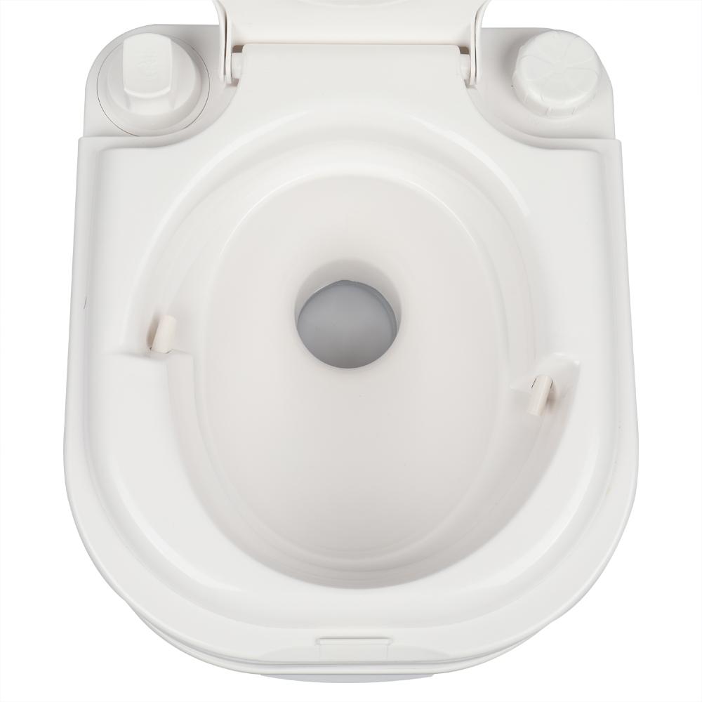 24L Portable Removable Flush Toilet Porcelain White